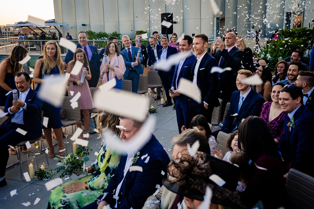 Same sex wedding at the Conrad Hotel in DC by Potok's World Photography