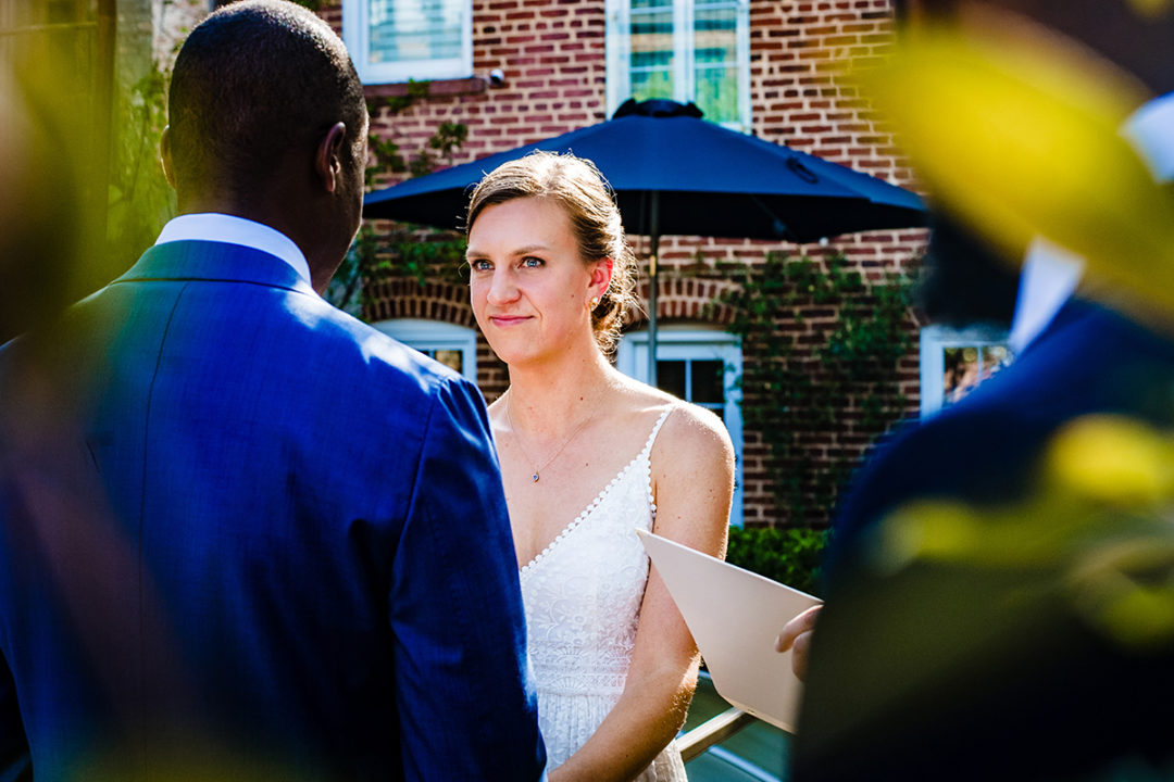 Outdoor ceremony at Fathom Gallery DC by Potok's World Photography