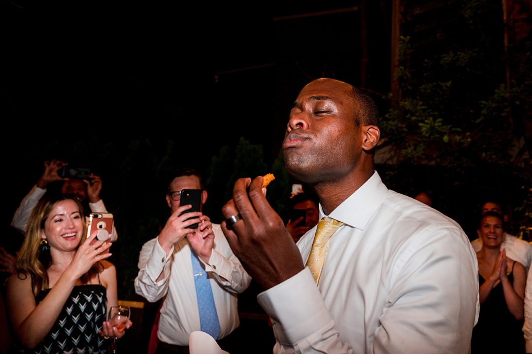 Wendy's spicy chicken nuggets at Fathom Gallery DC wedding reception by Potok's World Photography